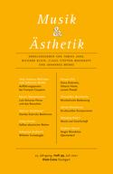 Musik und Ästhetik: Heft 99